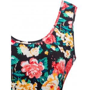 Retro Knitted Floral Dress -