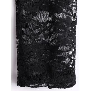 Deep V Neck Lace Spliced Mini Fitted Dress -
