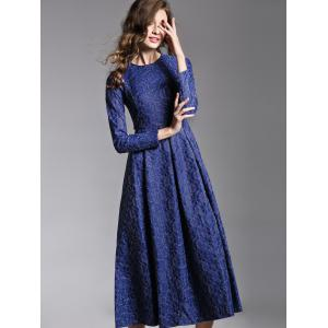 Long Sleeve Jacquard Maxi Dress -