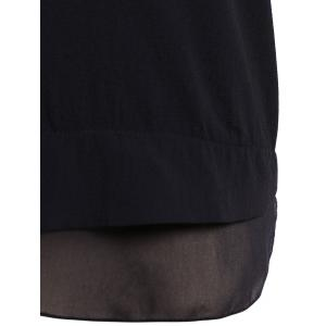 Plus Size Single Breasted Draped Blouse -