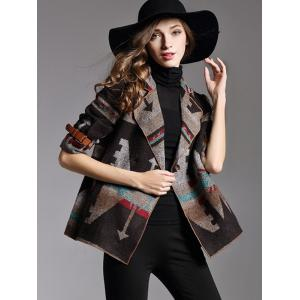 Two Button Printed Short Jacket -