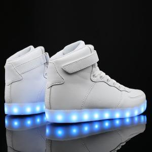 Led Luminous Lights Up Tie Up Casual Shoes -