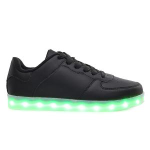PU Leather Lights Up Led Luminous Casual Shoes -