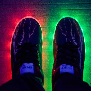 Led Luminous Lightning Pattern Lights Up Casual Shoes - DEEP BROWN 43
