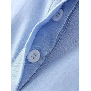 Polo Collar Embroidered Shirt -