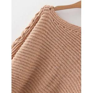 Boat Neck Batwing Sleeve Sweater -