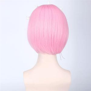 ReZero Ram Short Bob Style Synthetic Straight Ombre Color Cosplay Wig -