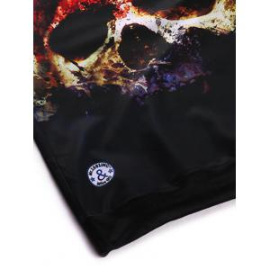 Crew Neck 3D Horrific Skull Printed Sweatshirt - BLACK XL