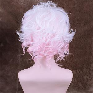DanganronpaKomaeda Nagito Curly Style Synthetic Ombre Color Cosplay Wig - COLORMIX