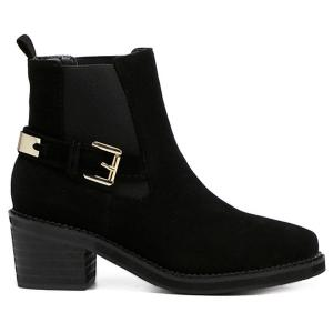 Elastic Band Pointed Toe Short Boots - BLACK 39