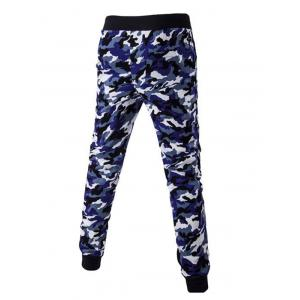 Camoflage Pattern Drawstring Beam Feet Jogger Pants -