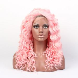 Long Curly Lace Front Synthetic Wig -