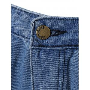 Pocket Design Distressed Jeans -