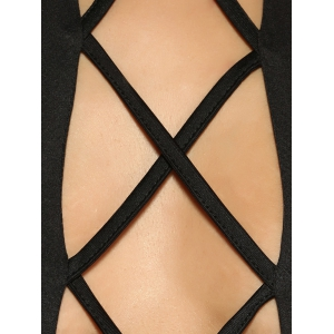 Criss-Cross Slimming Cut Out Romper -
