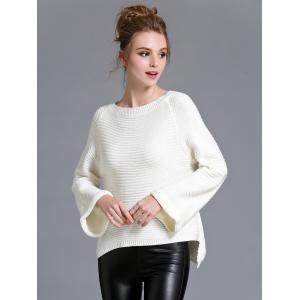 Flare Sleeve High Low Sweater -