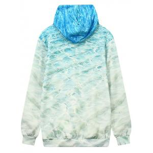 Front Pocket Wave Pattern Outerwear Hoodie -