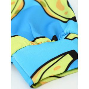 Front Pocket Banana Pattern Outerwear Hoodie -