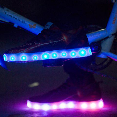 Trendy Led Luminous Lightning Pattern Lights Up Casual Shoes - 42 DEEP BROWN Mobile