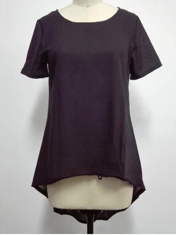 Outfits Asymmetrical Plain T-Shirt