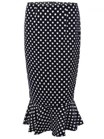 Shops High Waisted Polka Dot Mermaid Skirt