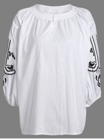 Buy Loose-Fitting Embroidered Blouse