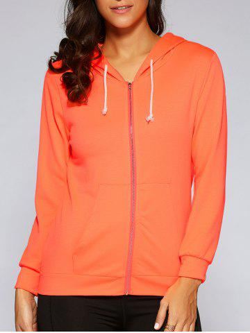 Chic Autumn Pocket Zip Up Hoodie
