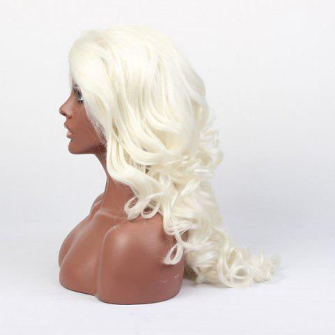 Fashion Faddish Long Wavy Lace Front High Temperature Fiber Wig - COLORMIX  Mobile