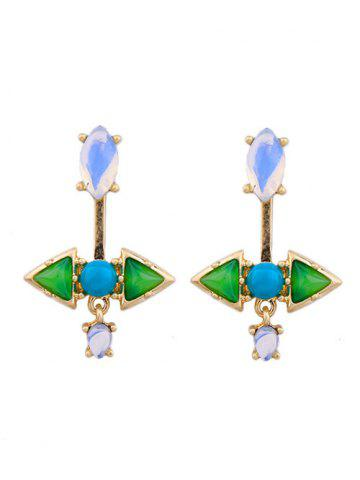 Sale Pair of Triangle Faux Gem Ear Jackets