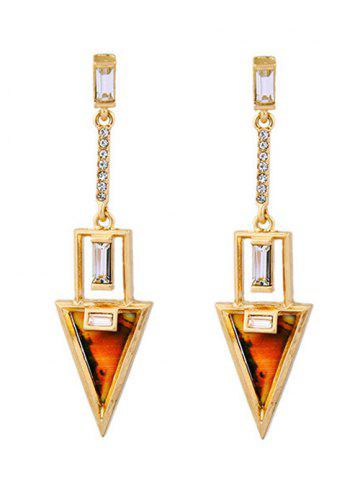 Unique Pair of Triangle Drop Earrings