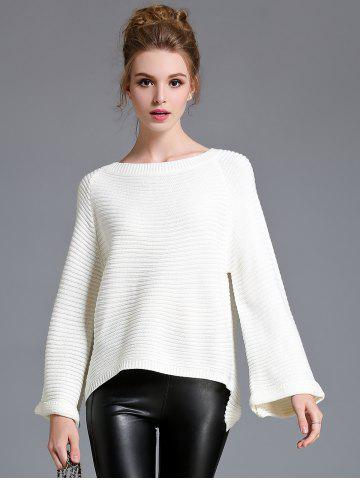 Best Flare Sleeve High Low Sweater
