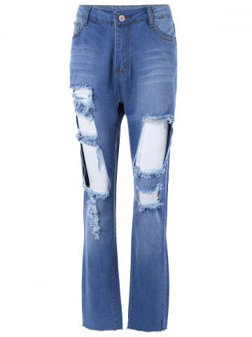 Shop Distressed Pocket Design Jeans