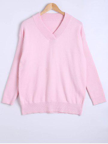 Buy Long Sleeve V-Neck Pullover Knitwear