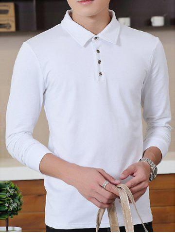 Fashion Brief Style Long Sleeve Polo Shirt