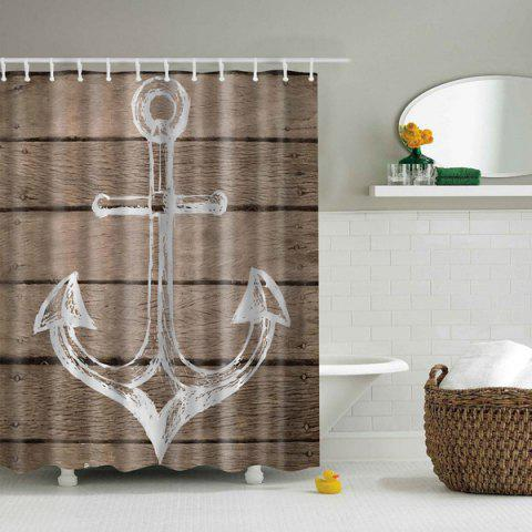 Affordable Bathroom Waterproof Anchor Pattern Printing Shower Curtain