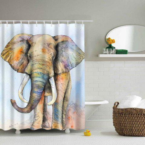 Cheap Elephant Printed Waterproof Polyester Shower Curtain