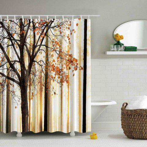 Unique Fall Maple Tree Waterproof Shower Curtain - L COLORMIX Mobile