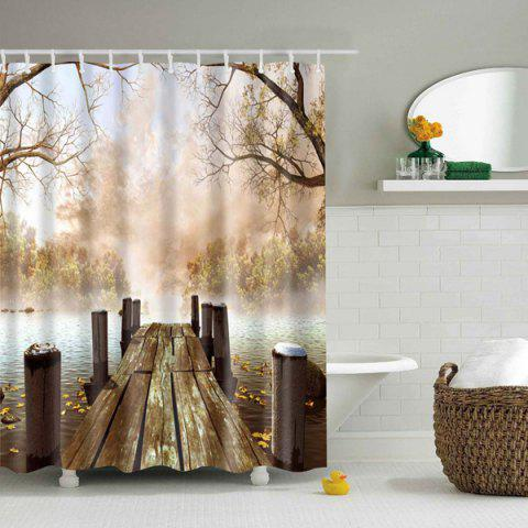 Online Nature Landscape Bridge Waterproof Shower Curtain COLORMIX M