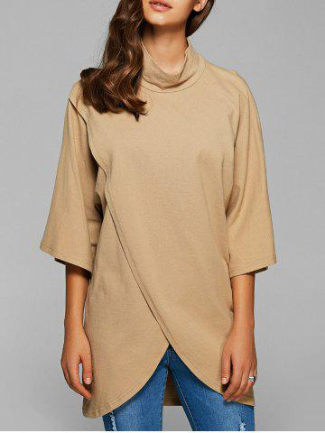 Cheap Flare Sleeves Tulip Hem Blouse