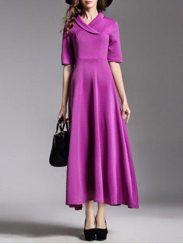 Shops Shawl Collar High Waist Maxi A Line Dress