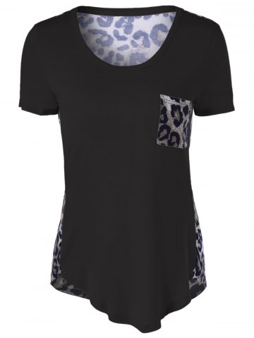 Hot U-Neck Leopard Print T-Shirt