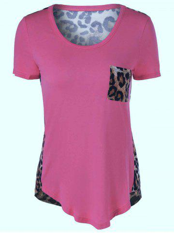 Sale U-Neck Leopard Print T-Shirt