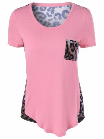 Best U-Neck Leopard Print T-Shirt
