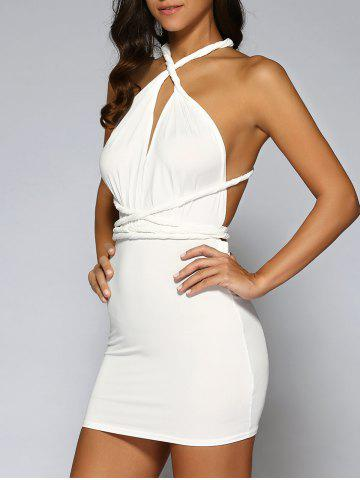 Affordable Backless Lace-Up Bodycon Dress