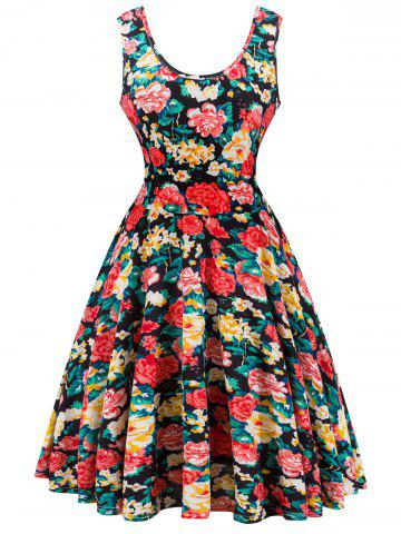 Fashion Retro Knitted Floral Dress