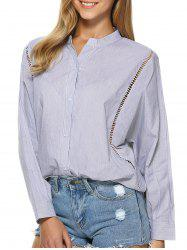 Dolman Sleeve Stand Collar Loose Shirt