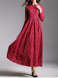 Long Sleeve Jacquard Maxi Dress