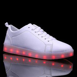Led Luminous Faux Leather Casual Shoes