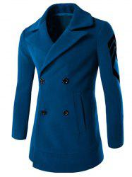 Collier Turn-Manteau broderie Double-Breasted Woolen -