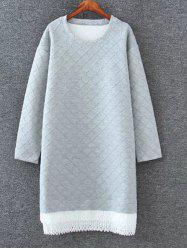 Drop Shoulder Shift Sweatshirt Dress
