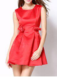 Bowknot Design Mini Fit and Flare Dress -